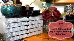 Makeup Organizer Desk by Diy Bling Acrylic Makeup Organizer Youtube