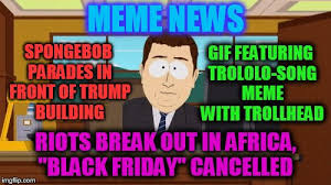 Meme Song - meme news gif featuring trololo song meme with trollhead spongebob