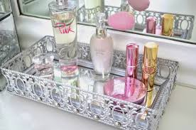 Makeup Vanity Tray Modern Bohemian Lifestyle Diy Mirrored Vanity Tray
