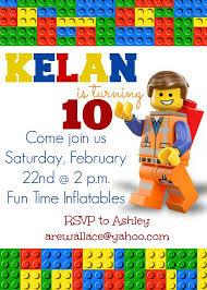 lego movie party invitations lego movie party invitation by