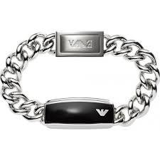 armani bracelet images Egs1729040 emporio armani mens sleek black matte id bracelet jpg