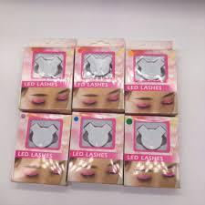 aliexpress com buy led glowing false eyelashes nightclub