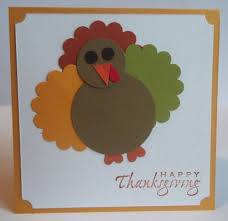 stin up handmade greeting card thanksgiving paper pieced turkey