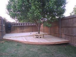 6 treated pine deck with bench around tree fences u0026 decks by t