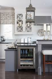 Gray Blue Kitchen Cabinets Captivating Black Color Kitchen Honed Granite Countertop Featuring