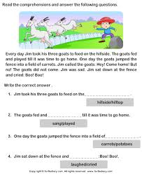 reading comprehension stories 5 worksheet turtlediary com