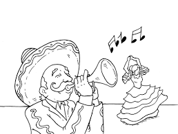 collection of solutions cinco de mayo coloring pages with