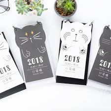 small desk calendar 2017 2018 year calendar 2017 7 2018 12 cute small black white cat