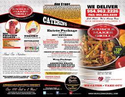 muscle maker grill menu design u0026 printing in miramar fl