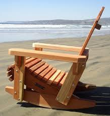 Unfinished Wood Rocking Chair Redwood Adirondack Rocking Chair Durable Wooden Rocker