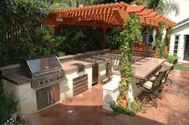 pergola design awesome outdoor cook house easy outdoor kitchen