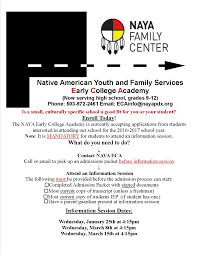 early college academy native american youth and family center