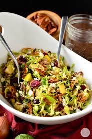 quick and easy thanksgiving recipes fall shredded brussels sprouts salad iowa eats
