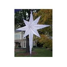 christmas lights etc reflections white pulsing led tree topper