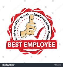 best employee employee month printable red stock vector 571843240