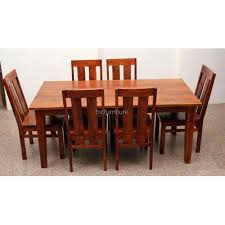 six seater dining table six seater solid wood dining table by bic furniture decor ideas