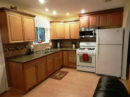 honey oak kitchen cabinets wall color oak wooden kitchen cabinet with grey ceramic floor for retro