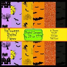 spooky halloween digital paper scrapbook paper pack digital
