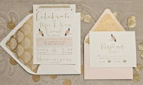 blush and gold wedding invitations gatsby wedding invitations gold and pink by yellowdoorcreative