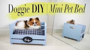 Dog Bunk Beds Furniture by Diy Super Easy Mini Dog U0026 Cat Bed Ann Le Youtube