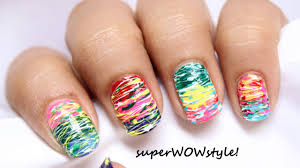 no tools nail art messy spun sugar nails how to do