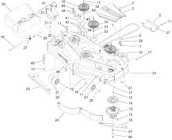 toro parts u2013 z453 z master with 52in turbo force side discharge