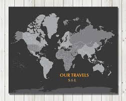 Holiday World Map by World Map Poster 16x20 Inches World Travel Honeymoon