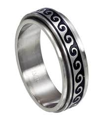 ring spinner antiqued wave spinner ring just men s rings