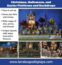 department 56 halloween village village platforms and backdrops for dept 56 lemax and other villages