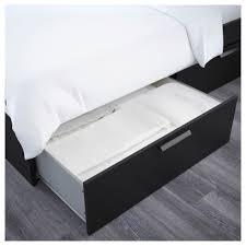 Brimnes Bed Frame Brimnes Bed Frame With Storage Headboard Black Luröy Storage