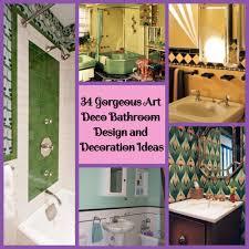 34 gorgeous art deco bathroom design and decoration ideas