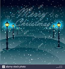 street lights with christmas decorations christmas greeting type