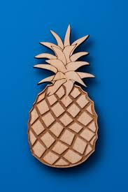 pineapple magnet luau party favors wooden fridge magnets hawaiian
