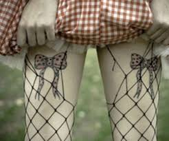 tie bow tattoo designfor on thigh bow tattoos on hip pink