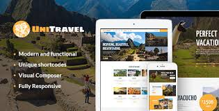 theme bureau unitravel travel agency tourism bureau theme by