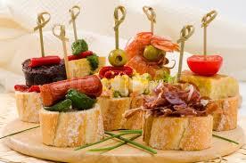 spanische k che spanische küche tapas tray montaditos stockfoto colourbox