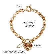 luxury bracelet gold chains images Charm chain 18k gold plated bracelet hollow love heart vintage jpg