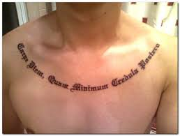 only god can judge me ambigram tattoo on rib