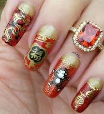 chinese themed nail art chinese new year pinterest