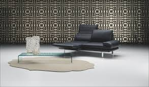 Modern Furniture In Denver by Ultra Modern Black Schillig Sofa Design Chrome Leg Glass Coffee