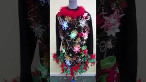 light up ugly christmas sweater dress women s musical light up snowflakes tacky ugly christmas sweater for