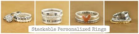 personalized stackable rings sted rings and handwriting rings for and more