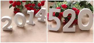 new white wooden number ornaments tools 0 9 for birthday festival