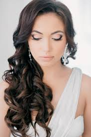 for long dark hair perfect curly wedding hairstyles for curly wedding