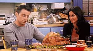 friends thanksgiving with brad pitt i phoebe s reaction
