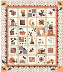 Fabric Halloween by Spooky Halloween Row Of The Month Quilt Holiday Quilts