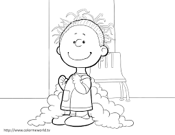 charlie brown halloween coloring page free printable pages with