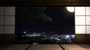 japanese style room with night view after effects work youtube