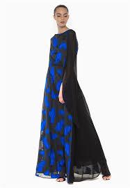 evening maxi dresses anastasiia ivanova evening maxi dress black color w blue feather