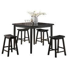 Gaucho  Piece Counter Height Dining Set Black Acme  Target - Counter height dining table in black